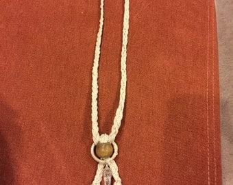 Braided hemp necklace