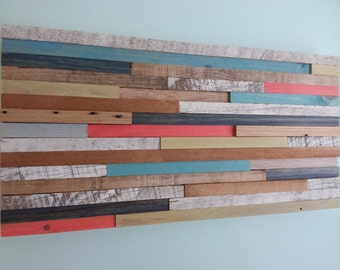 Key West Collection, Wall Art, Reclaimed Wood, Pallet Wood, Home Decor, Upcycled Wood, Coral, Barn Wood, Wall Art,  Beach Decor