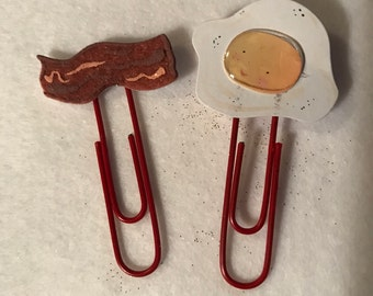 Bacon and eggs planner clip set