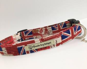 Britannia, Handmade Dog Collar, Made in UK