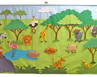 Safari /  Giant wall hanging 80x150 cm.