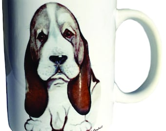 Bassett Hound Mug This Is My Happy Face Mother's Day Gift