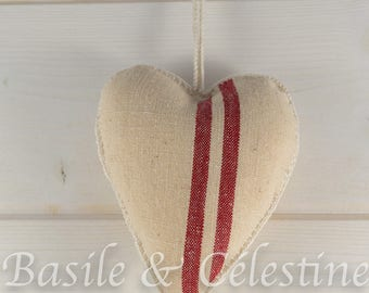 Mother's day - Hanging Heart from Recycled Fabric