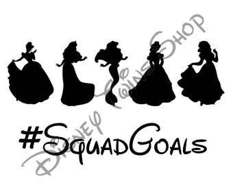 Princess #SquadGoals Vinyl Iron On