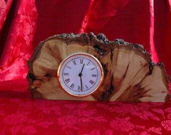 Large Maple Burl Clock