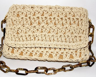 Knit bag, Handmade thread