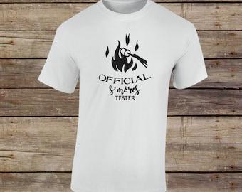 Official Smore Tester T-Shirt - Mountain Shirt - Hiking Shirt - Camping Shirt - Adventure Shirt - Campfire Shirt - Marshmallow Roasting