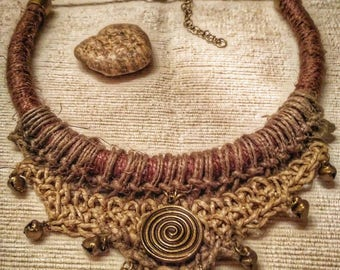 Tribal crochet necklace