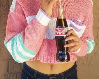 knit crop top sweater