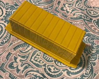 Vintage Plastic Covered Butter Dish
