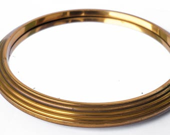 Miroir plateau vintage etsy for Miroir contour metal