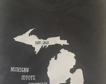 Black/Gray Michigan Coyote T-Shirt
