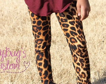 Leopard Print Leggings, Women Leggings, Girls Leggings, Toddler Leggings