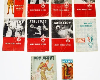 Boy Scout Merit Badge Books, Handbook and Diary BSA