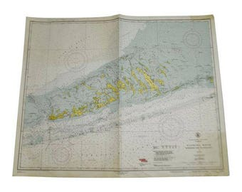 1952 United States Gulf Coast Florida Sombrero Key To Sand Key Nautical Chart No. 1251