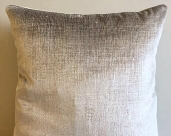 Beige Velvet Pillow Cover 18x18 Pillow Velvet Beige Pillow Designer Pillow Velvet Pillows Velvet Cushion Covers Beige Sofa Pillow Cover