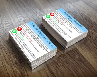 French and German Gluten Free Language Travel Cards For Coeliacs