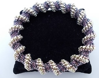 Beaded Bracelet Purple Cellini Spiral Beaded Bangle A Perfect Gift for any Occasion