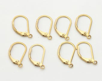 20 pairs of French ear hook, DIY accessories,gold-plated copper earrings ear hook, electroplating, earrings metal accessories.