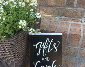 Gifts and cards chalkboard sign, wedding chalkboard sign, wedding sign, party sign