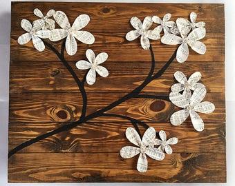 Wooden Flower Wall Decor