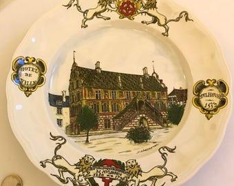 Plate H.Chassagnac Mulhouse, luneville france KG