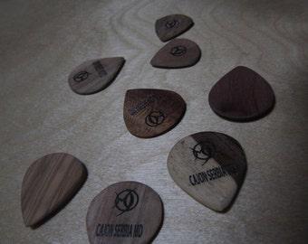 guitar picks Unique wooden hand made