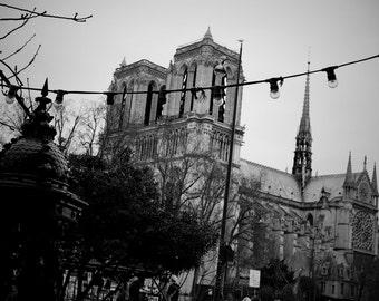 Notre-Dame Photograph. B&W