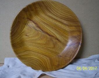 Canarywood serving dish or fruit platter