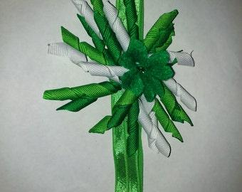 St Patricks Day korker bow headband