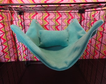 Fleece hammock for guinea pigs, sugar gliders, rats, ferrets