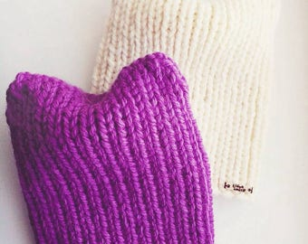 Pussyhat, Cat beanie, Pussy hat, Cat hat, Kitty Hat, Hand made Knit Beanie, Beanie Hat, Women's Winter Hat, Hand made Knit Cat Beanie