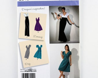 Simplicity Pattern 2549 Misses' Day or Evening Dress, Skirt Variations, Sizes 14, 16, 18, 20, 22 Uncut Designer's Inspiration Pattern