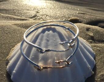 Sterling Silver Fish Hook Bracelet