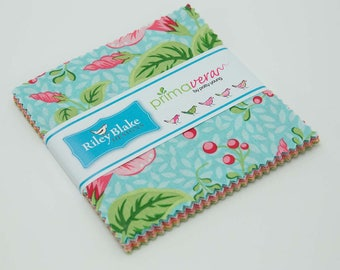 Primavera 5-Inch Stacker by Patty Young for Riley Blake Designs, Charm Pack Style