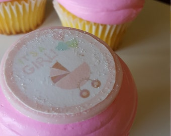 Baby Shower 2-inch round Toppers