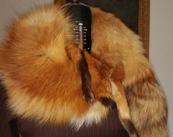 VINTAGE real FOX stole