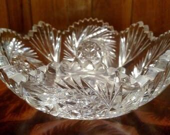 Cut Glass Cyrstal Bowl