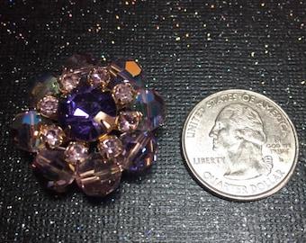 Glam Vintage Purple Crystal Jewelry Magnet