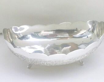 Vintage Sterling Silver Pakistan Pak 94 Sil Footed Engraved Bowl