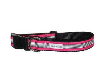 Hot Pink Zebra Stripe Collar *FREE SHIPPING*