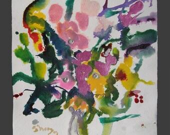 Taste of Spring - original watercolor painting