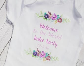 Personalised Baby Girl Vest