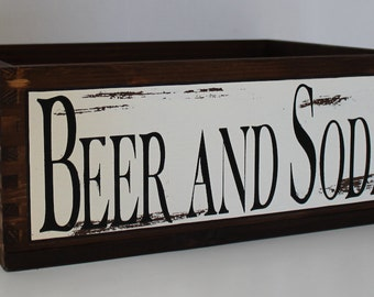 Vintage style bottle holder box, solid wood furniture, decorating Shabby chic style