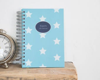 A4/A5 Personalised Life Planner Diary - Stars Design