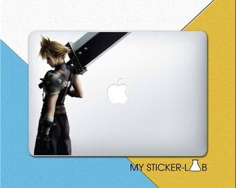 Final Fantasy Cloud MacBook Decal Cloud MacBook Sticker Cloud Skin Final Fantasy Sticker Final Fantasy Decal Final Fantasy 7 Game bn194