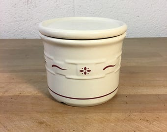 Candy Jar & Lid in Woven Traditions Red by Longaberger