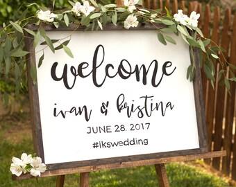 Wedding Welcome Sign - Rustic Wood Wedding Sign - Welcome To The Wedding Sign - Wooden Welcome Sign
