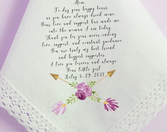 Wedding Handkerchief, Mother of the Bride Handkerchief, To dry your tears, Mom, love, Printed Hankie, Custom Handkerchief, hankie 68