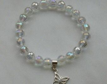 Luxury rhinestone Bracelet with Sterling Silver Charm